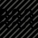 boat, breeze, creative, grid, line, moon, sea, shape, ship, tide, wave icon