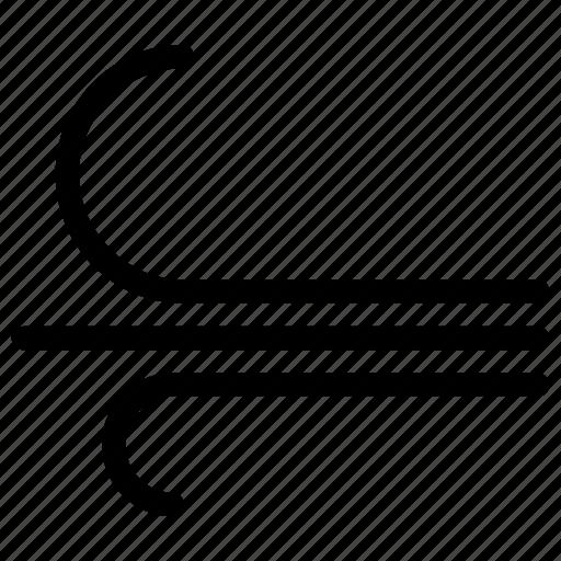 creative, forecast, grid, line, shape, weather, windy icon