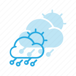 day, forcast, hailstorm, storm, weather icon