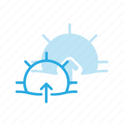 day, forcast, rise, sun, sunny, sunrise, weather icon