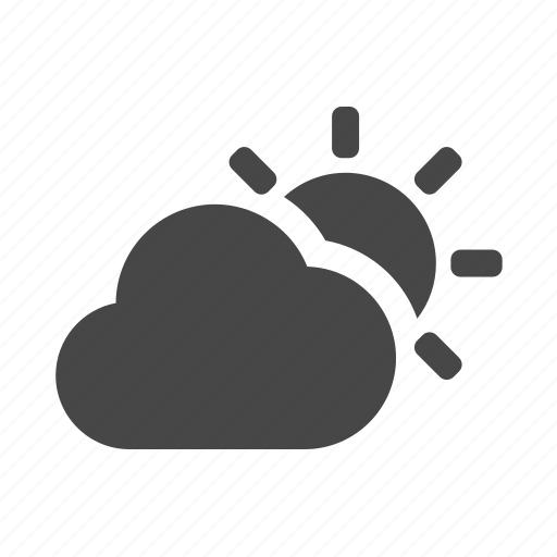 cloudy, sunny, weather icon