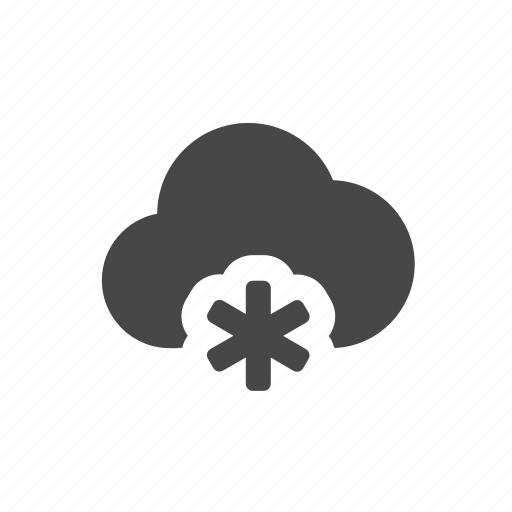 cloud, flake, weather icon