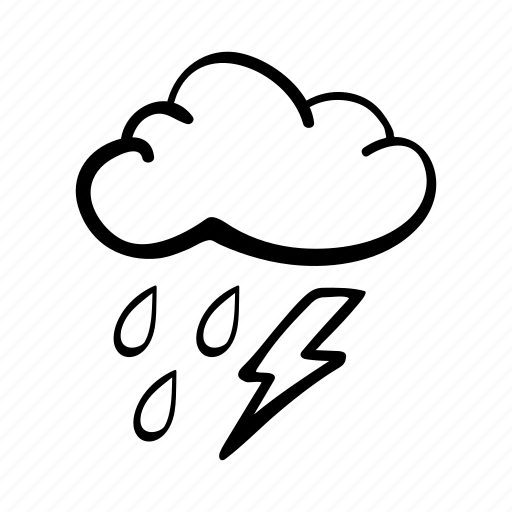 cloud, lightning, rain, storm, thunderstorm, weather, weather forecast icon