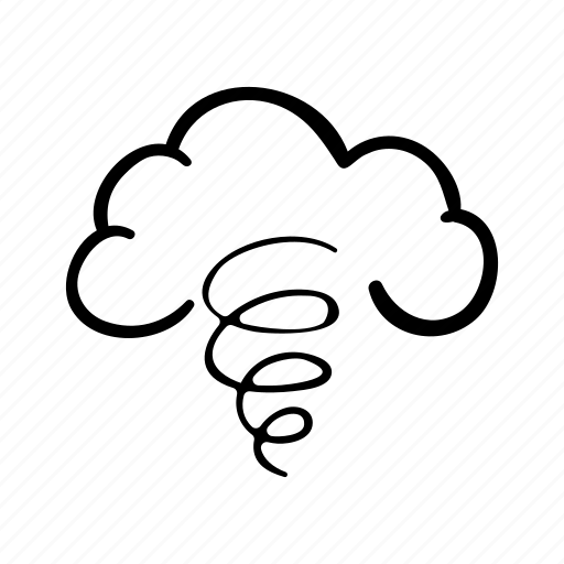 cloud, sky, storm, tornado, weather, weather forecast, wind icon