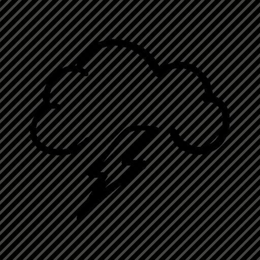 cloud, lightning, storm, thunder, thunderstorm, weather, weather forecast icon