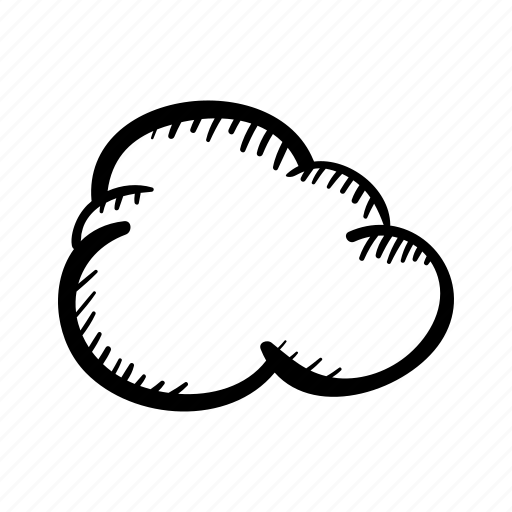 cloud, hand drawn, sky, weather, weather forecast icon