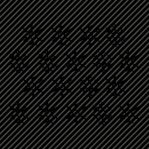 pattern, snow, snowflakes, snowflakes pattern, weather, winter icon