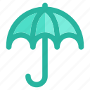 cloudy, rain, snow, storm, umbrella, weather, winter icon