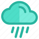 christmas, cloudy, moon, night, rain, snow, weather icon
