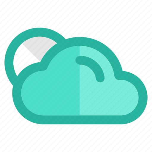 clouds, cloudy, moon, night, rain, storm, weather icon