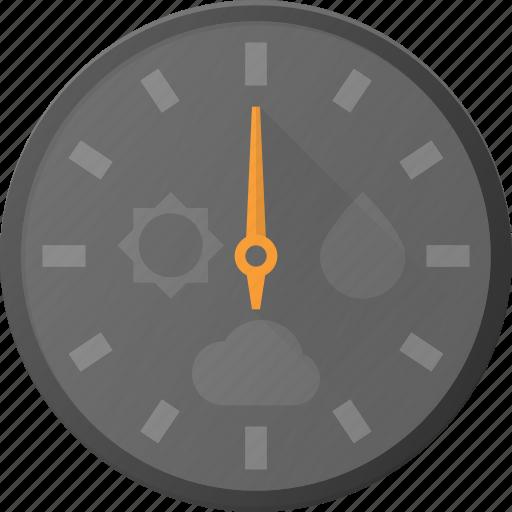 barometer, dashboard, forcast, pressure, weather icon