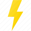 flash, forcast, lightning, storm, weather icon