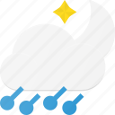forcast, hailstorm, night, storm, weather icon