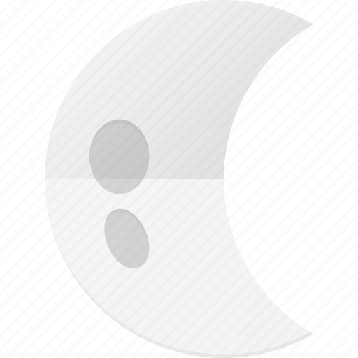 forcast, half, moon, night, weather icon