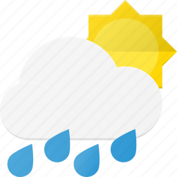 day, forcast, hard, rain, storm, weather icon