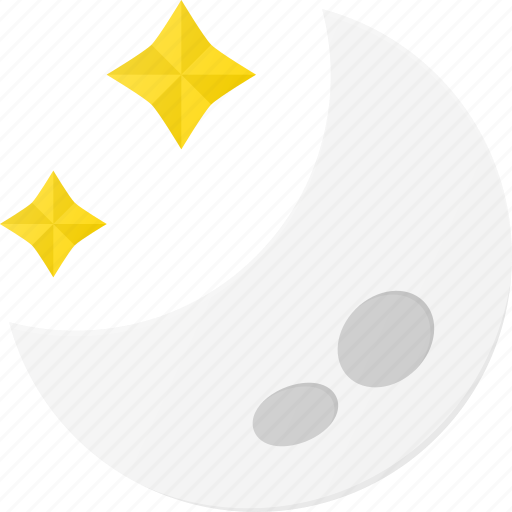 clear, forcast, moon, night, star, weather icon