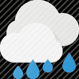 cloud, forcast, rain, rainy, weather icon