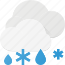 cloud, forcast, rain, snow, weather icon