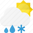 cloud, day, forcast, rain, snow, weather icon