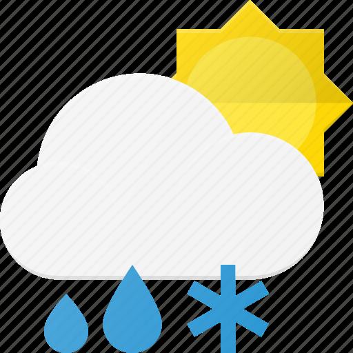 cloud, day, forcast, rain, snow, weather icon