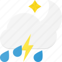 forcast, night, rain, storm, thunder, weather icon