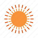 bright, sun, sunny, weather icon