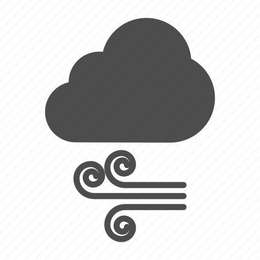 Weather, cloud, wind, air icon