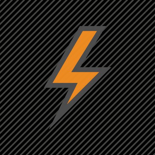 bolt, lightning, thunder, weather icon
