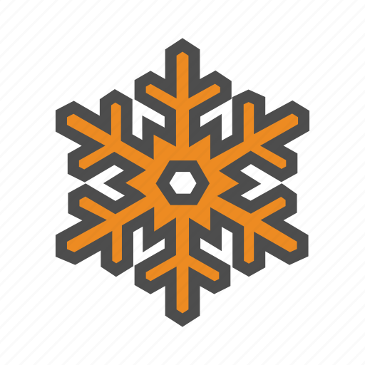 snow, snowflake, weather icon