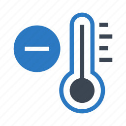 climate, decrease, temperature, thermometer, weather icon