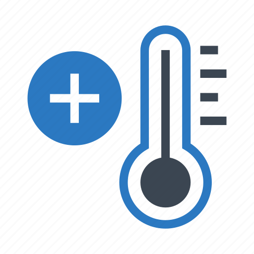climate, plus, temperature, thermometer, weather icon