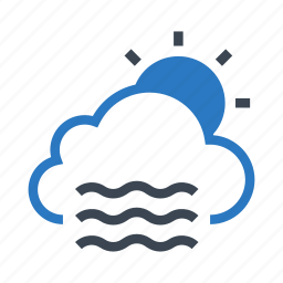 climate, cloud, day, sun, weather icon