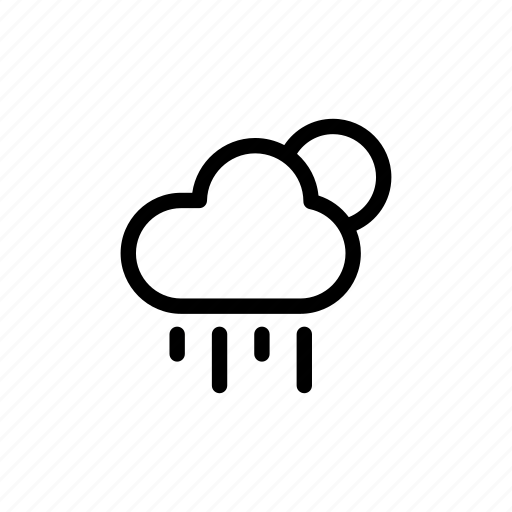 Cloud, forecast, night, rainy, weather icon - Download on Iconfinder