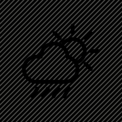 cloud, day, forecast, rainy, weather icon