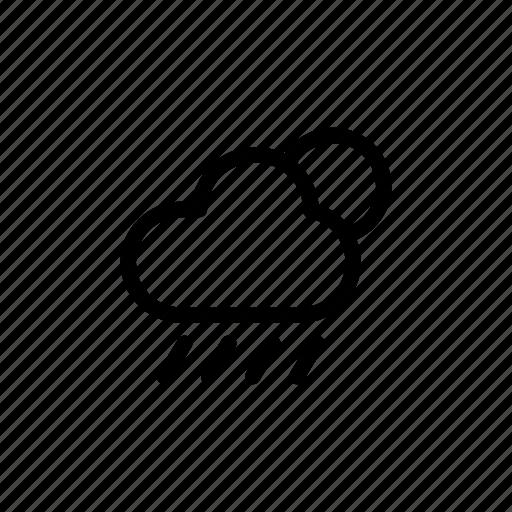 cloud, forecast, night, rainy, weather icon