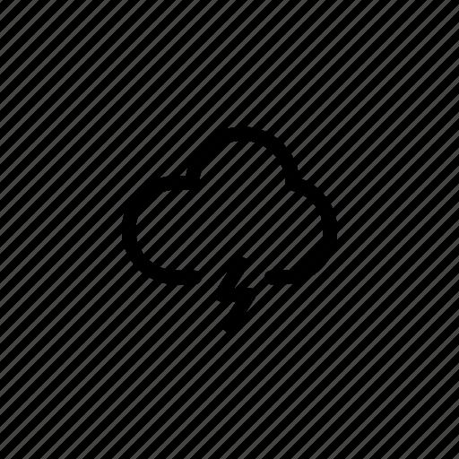 cloud, forecast, lightning, rainy, weather icon