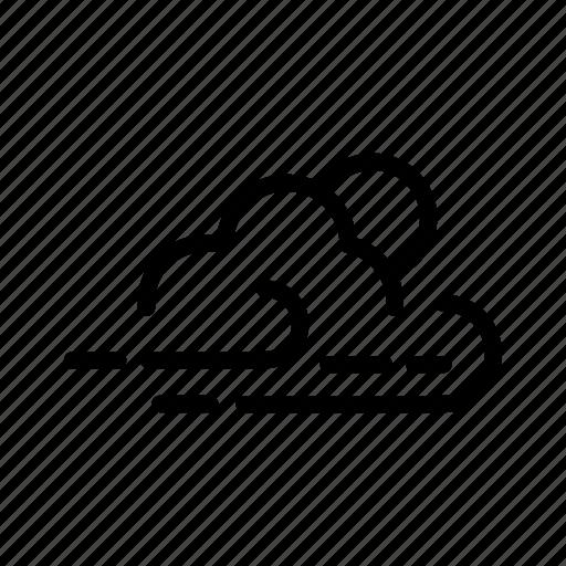 cloud, forecast, monsoon, night, weather icon