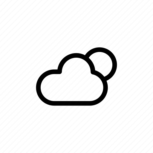 cloud, cloudy, forecast, night, weather icon