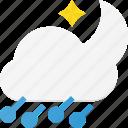 forcast, hailstorm, night, storm, weather