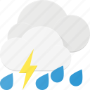 forcast, rain, storm, thunder, weather icon