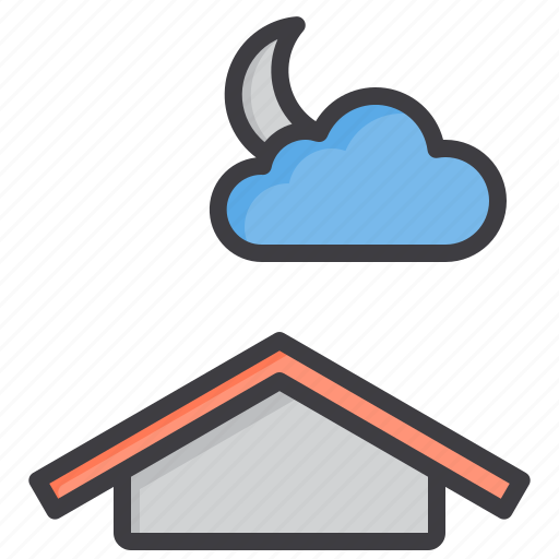 cloud, cloudy, meteorology, night, sky, weather icon