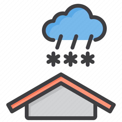 cloud, heavy, meteorology, sky, snow, weather icon