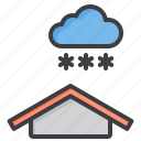 cloud, meteorology, sky, snow, weather icon