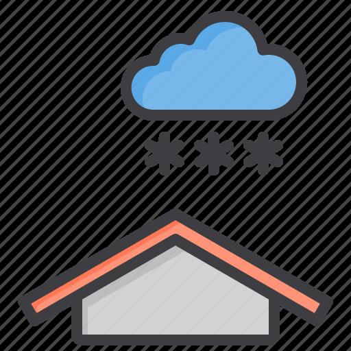 cloud, meteorology, sky, snow, weather icon