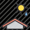 cloud, humidity, meteorology, sky, sun, weather icon