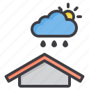 and, cloud, meteorology, rain, sky, sun, weather icon