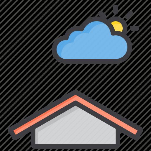 cloud, meteorology, sky, sunny, weather icon