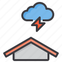 cloud, meteorology, sky, thunder, weather icon