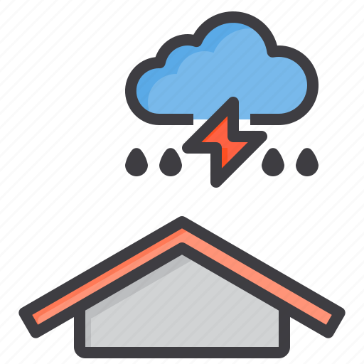 cloud, meteorology, sky, strom, thunder, weather icon