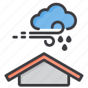 and, cloud, meteorology, rain, sky, weather, wind icon